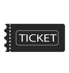 Ticket icon on white background ticket sign flat vector