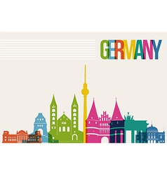 Travel germany destination landmarks skyline vector