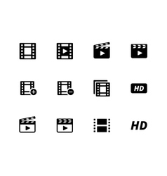 Video icons on white background vector