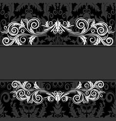 Vintage black frame vector
