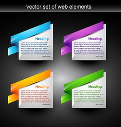 web element vector image