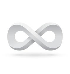 White infinity symbol vector image