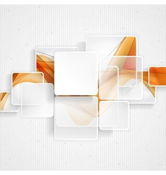 White Square Element vector image