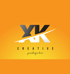 xk x k letter modern logo design with yellow vector image