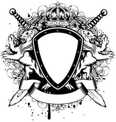 board lions crown vector image