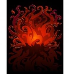 fire symbol vector image