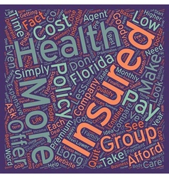 How To Compare Low Cost Health Insurance In vector image vector image
