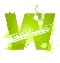 Letter W background vector image vector image