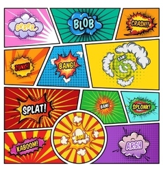 Noise Effects Comics Page vector image