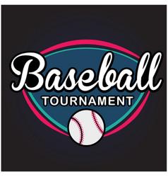 sport baseball tournament image vector image vector image