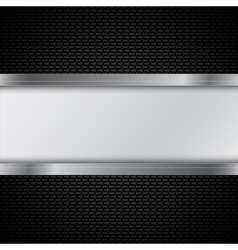 Carbon fiber texture vector image vector image
