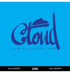 Cloud calligraphy concept vector image vector image