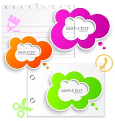 colorful paper bubble for speech vector image vector image