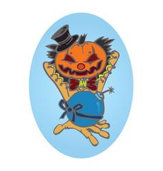 hallowen pumpkin vector image