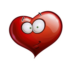 Heart Faces Happy Emoticons Smirk vector image