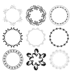 round decorative frames - set vector image vector image