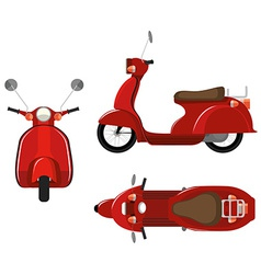 Scooter vector image vector image