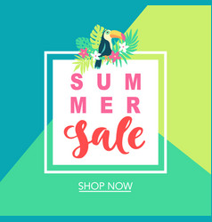 summer sale tropical banner template background vector image vector image