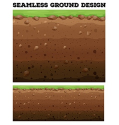 Underground design with lawn on dirt vector image vector image