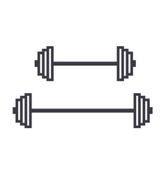weights line icon sign on vector image