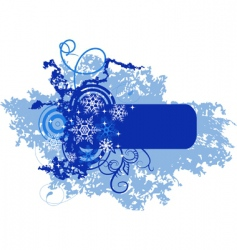winter banner with snowflakes illustration vector image