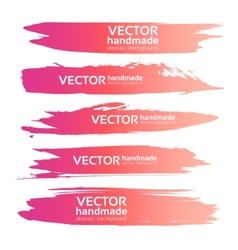 Abstract realistic pink gouache strokes paint vector image