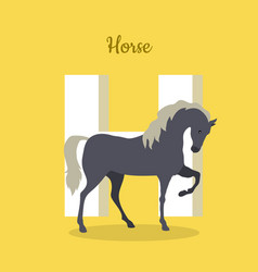 animal alphabet concept in flat design vector image vector image