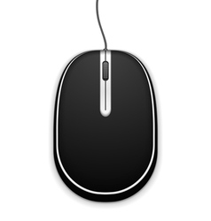 Black Computer Mouse vector image vector image