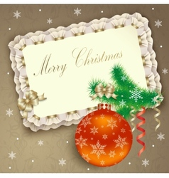 Christmas background with banner vector image