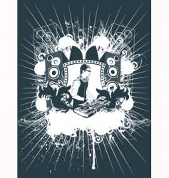 emblem Dj vector image