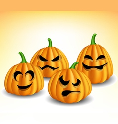 Pumpkin head set with different expressions vector image vector image