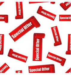special offer sticker seamless pattern background vector image