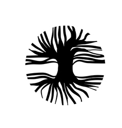 Circle Tree Logo vector image