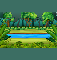 forest and river vector image