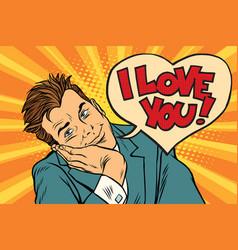 i love you businessman vector image