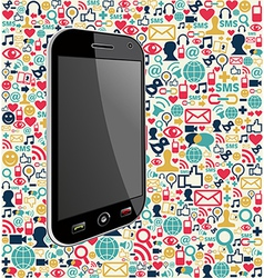 Iphone social media icon background vector image
