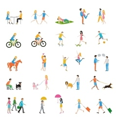 people large set vector image vector image