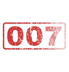 007 rubber stamp vector