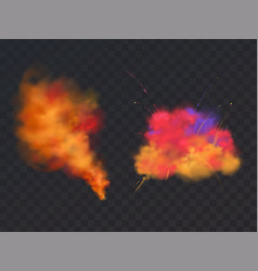 3d realistic paint powder explosion holi vector