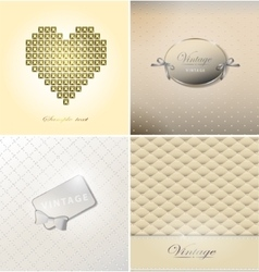 Abstract retro background with dots and retro vector