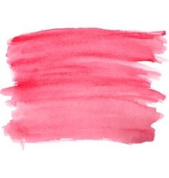 Abstract watercolor hand red paint vector image