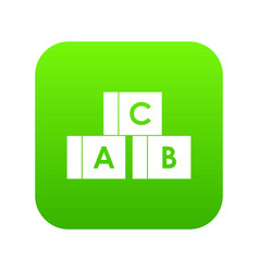 alphabet cubes with letters abc icon digital vector image