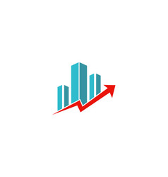 arrow up business finance logo vector image