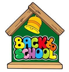 back to school theme 1 vector image