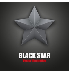 Background black five-pointed star vector