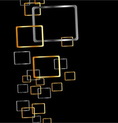 Background with silver and golden rectangles vector