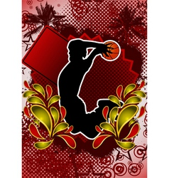 Basketball summer background vector