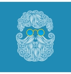 Beard and mustache of Santa Claus vector