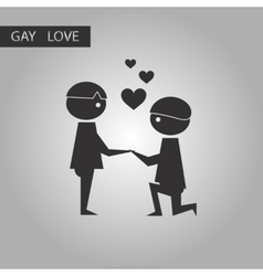 black and white style icon homosexual lovers vector image