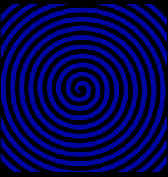black blue round abstract vortex hypnotic spiral vector image